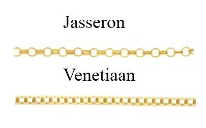 Jasseron en Venetiaanse ketting goud