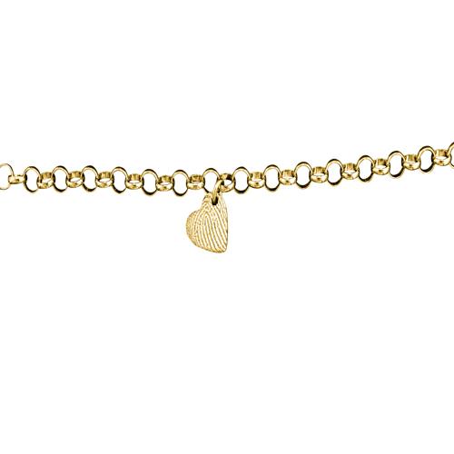 gouden armband hartje