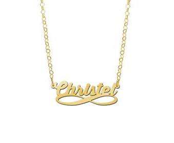 | Gouden naamketting infinity Names4ever