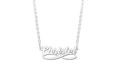 | Zilveren naamketting infinity Names4ever
