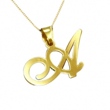 Ketting letter gold plated 254
