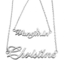 Naamketting 009 two name