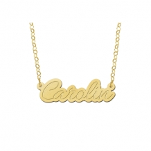 Naam ketting Carolin Names4ever goud detail