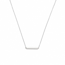 Joy de la Luz naamketting bar zilver
