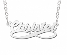 Zilveren naamketting infinity Names4ever